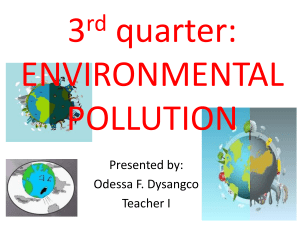 3rd quarter environmental pollution