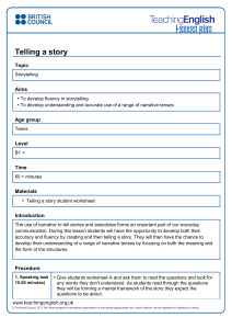 Telling a story lesson plan