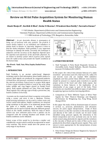 IRJET-Review on Wrist Pulse Acquisition System for Monitoring Human Health Status