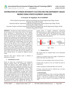 IRJET-Estimation of Stress Intensity Factor for the different Crack Modes using Finite Element Analysis