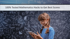 100% Tested Mathematics Hacks to Get Best Scores | Ring at +1(240)8399485