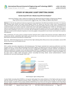 IRJET-    Study of Organic Light Emitting Diode