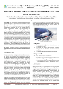 IRJET-Numerical Analysis of Hyperloop Transportation Structure