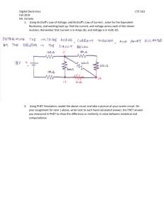 Kirchoffs Voltage and Current Law Assignment