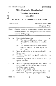 data structure paper
