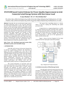 IRJET-STATCOM based Control Scheme for Power Quality Improvement in Grid-Connected Wind Energy System with Non-Linear Load