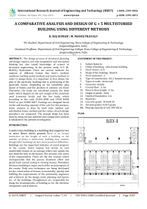 IRJET-    A Comparative Analysis and Design of G + 5 Multistoried Building using Different Methods