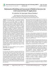 IRJET-Mathematical Modelling and Assessment of Multilevel Inverters for Grid Connected Solar PV Applications
