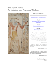 The Eye of Horus An Initiation into Phar