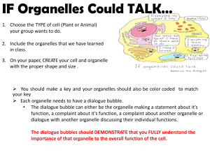 if organelles could talk