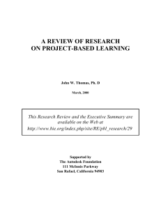 A REVIEW OF RESEARCH ON PROJECT-BASED LE