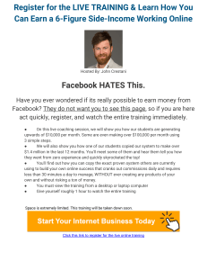 Create a 6-Figure Side-Income Online on Facebook