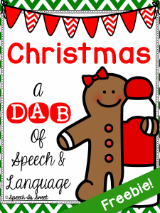 ChristmasADabofSpeechandLanguageFreebie (2)