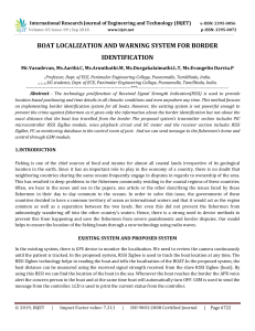 IRJET-    Boat Localization and Warning System for Border Identification