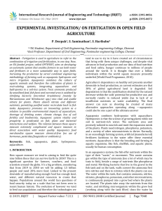 IRJET-    Expermental Investigation/ on Fertigation in Open Field Agriculture