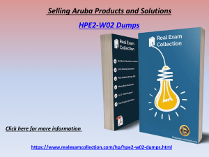 Download HP HPE2-W02 Dumps With Passing Guarantee - HPE2-W02 Dumps RealExamCollection