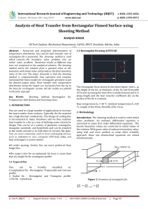 IRJET-Analysis of Heat Transfer from Rectangular Finned Surface using Shooting Method