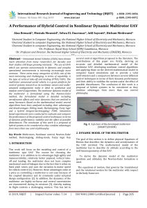IRJET-    A Performance of Hybrid Control in Nonlinear Dynamic Multirotor UAV
