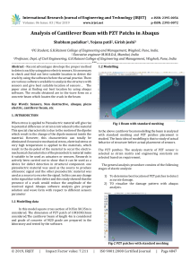 IRJET-Analysis of Cantilever Beam with PZT Patchs in Abaqus