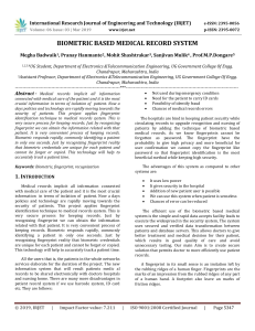 IRJET-    Biometric based Medical Record System