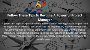 Follow these Tips To Become A Powerful Project Manager