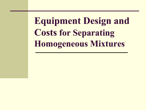 Equipment Design and Costs