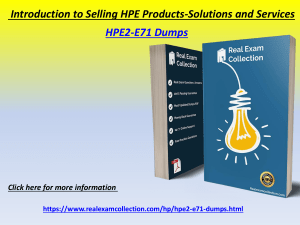 Valid HP HPE2-E71 Exam Dumps - Latest HPE2-E71 Questions Answers