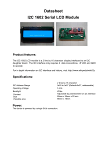 I2C-LCD-interface