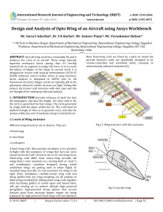 IRJET-    Design and Analysis of Opto Wing of an Aircraft using Ansys Workbench