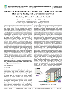IRJET-    Comparative Study of Multi-Storey Building with Coupled Shear Wall and Multi-Storey Building with Conventional Shear Wall