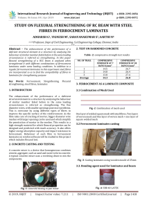 IRJET-Study on Flexural Strengthening of RC Beam with Steel Fibres in Ferrocement Laminates