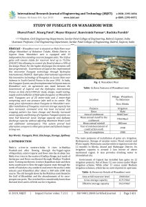 IRJET-Study of Fusegate on Wanakbori Weir