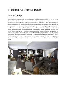 The Need Of Interior Design