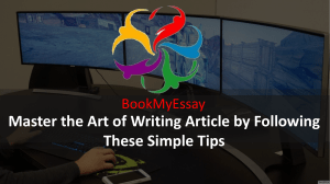 Master the Art of Writing Article by Following These Simple Tips