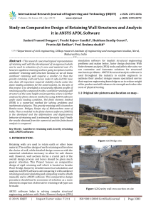 IRJET-    Study on Comparative Design of Retaining Wall Structures and Analysis it in ANSYS APDL Software
