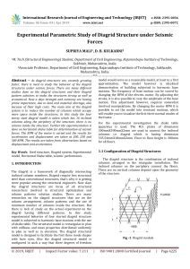 IRJET-Experimental Parametric Study of Diagrid Structure under Seismic Forces