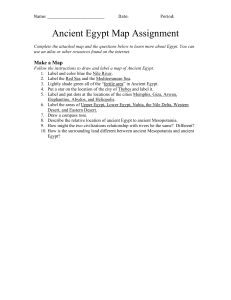 Egypt Map Worksheet