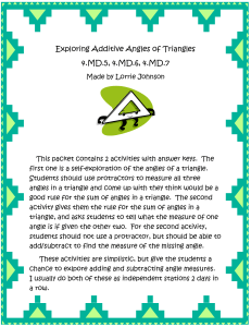 Exploring Additive Angles of Triangles cover page thumb