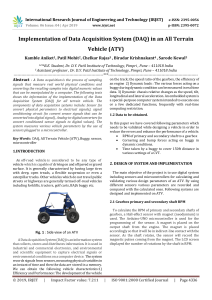 IRJET-Implementation of Data Acquisition System (DAQ) in an All Terrain Vehicle (ATV)