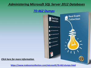 Verified 70-462 Exam Questions - Microsoft 70-462 Exam Dumps RealExamCollection