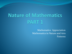 1. Nature of Mathematics part 1