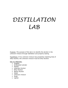 DISTILLATION LAB