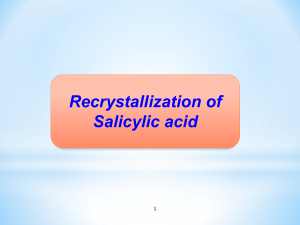 Recrystallization of S.A.