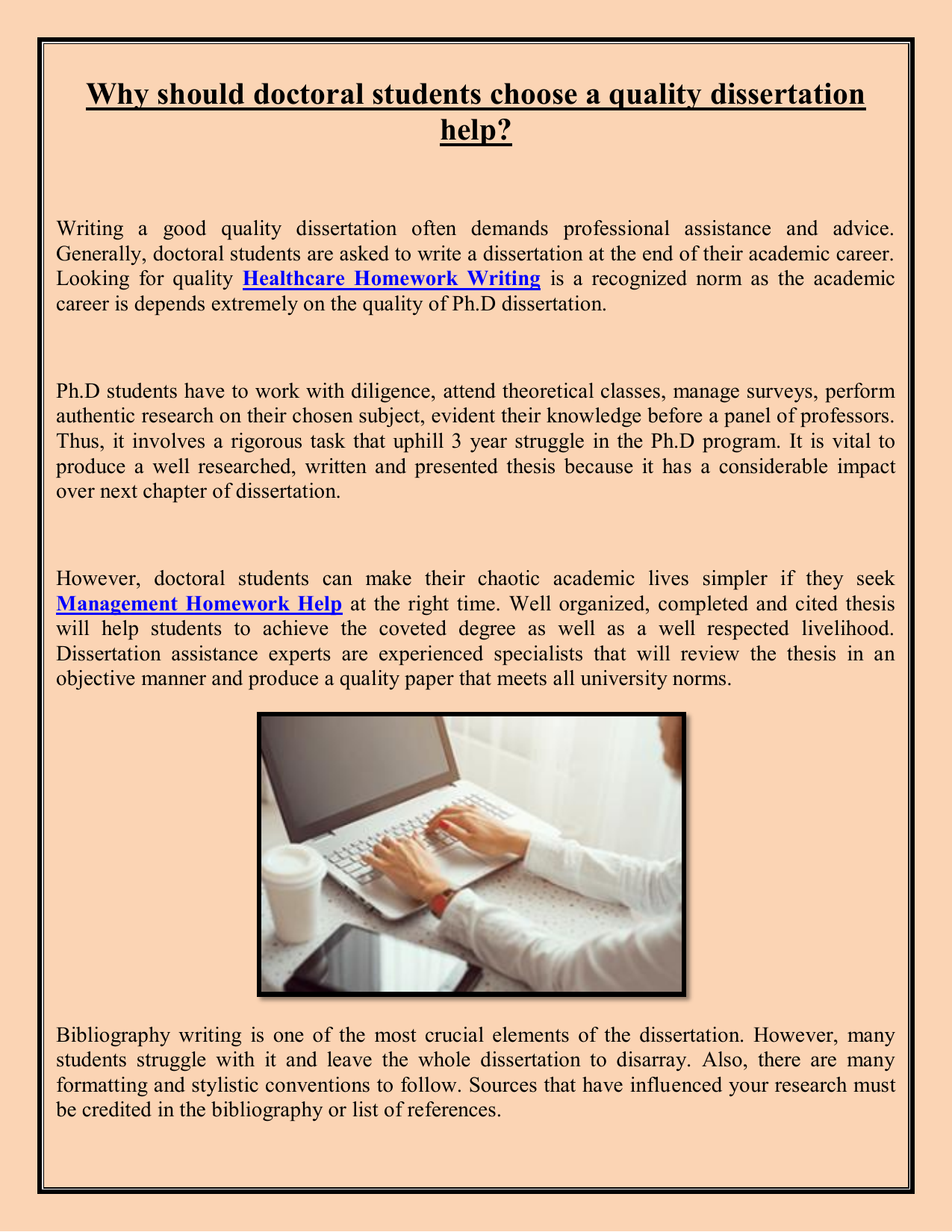 Doctoral Dissertation Assistance