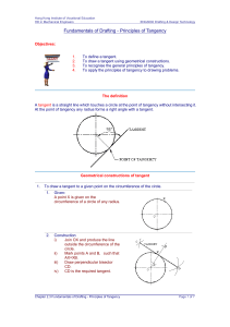 2.3Principle of Tangency