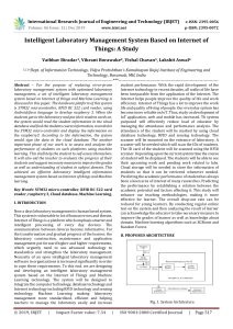 IRJET-    Intelligent Laboratory Management System based on Internet of Things: A Study