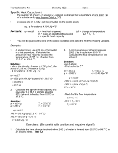chem practice problems q=mcat