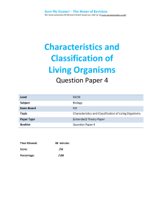 1.4-characteristics and classification of living organisms- igcse-cie-biology -ext-theory-qp