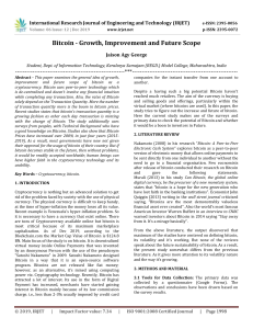 IRJET-Bitcoin - Growth, Improvement and Future Scope