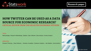 How Twitter can be used as a data source for Economic Research Critical Review from the Selected Economic Studies